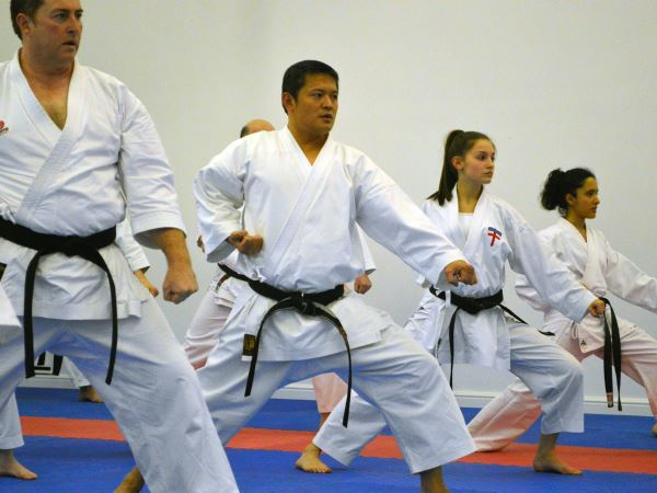 Amber demonstrating Elite Karate