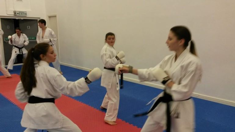 Black belt only training class at Walsall Karate Dojo
